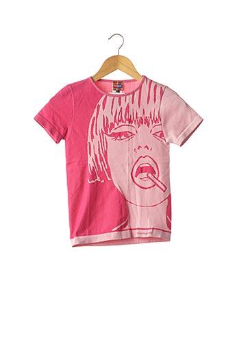 T-shirt manches courtes rose DESIGUAL pour femme