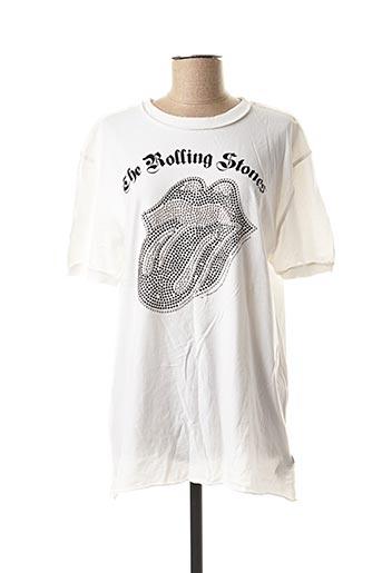 T-shirt manches courtes blanc AMPLIFIED pour femme