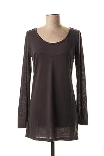 T-shirt manches longues gris ICHI pour femme