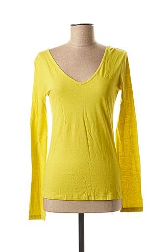 T-shirt manches longues vert DDP pour femme