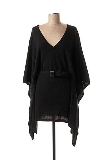 Pull tunique noir PHARD pour femme