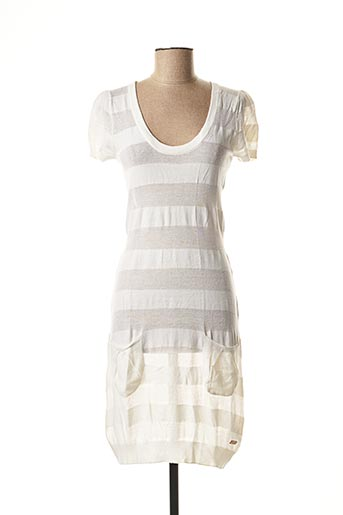 Robe pull blanc CHILLI PEPPER pour femme