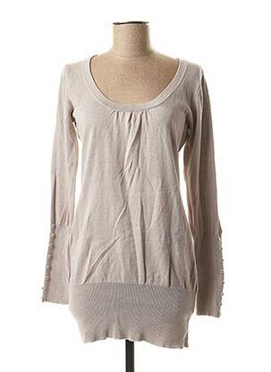 Pull tunique gris ICHI pour femme