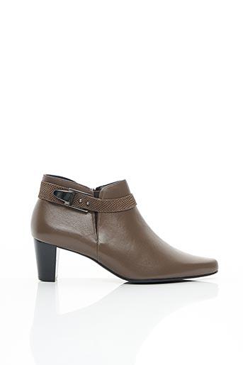 Bottines/Boots beige ARTIKA SOFT pour femme