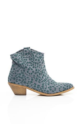 Bottines/Boots bleu ELOUNDA pour femme