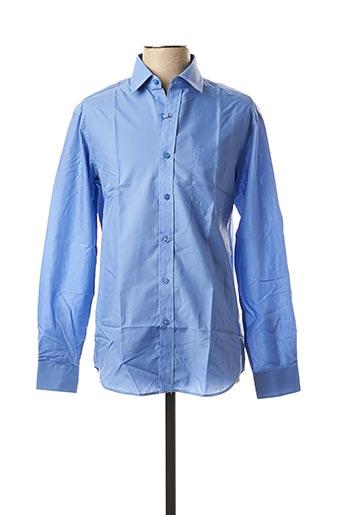 Chemise manches longues bleu AMPARO pour homme