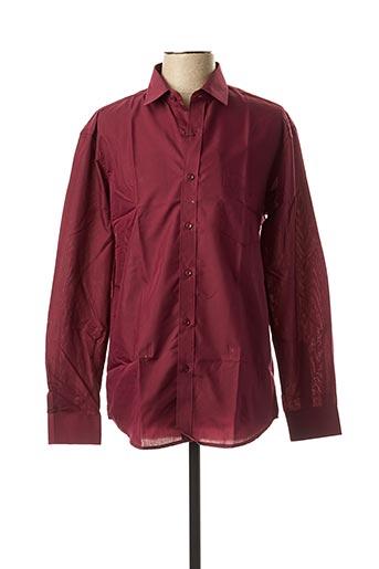 Chemise manches longues rouge AMPARO pour homme