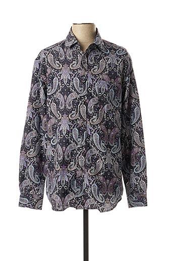 Chemise manches longues violet AMPARO pour homme