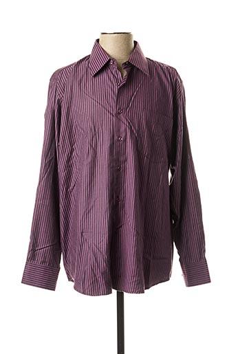 Chemise manches longues violet ATTORE pour homme
