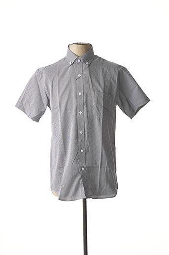 Chemise manches courtes noir AMPARO pour homme