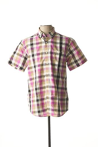 Chemise manches courtes rose AMPARO pour homme