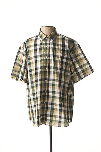 Chemise manches courtes vert AMPARO pour homme