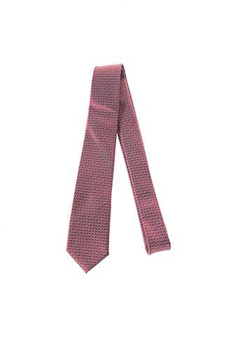 Cravate rouge CANOTTI COUTURE pour homme