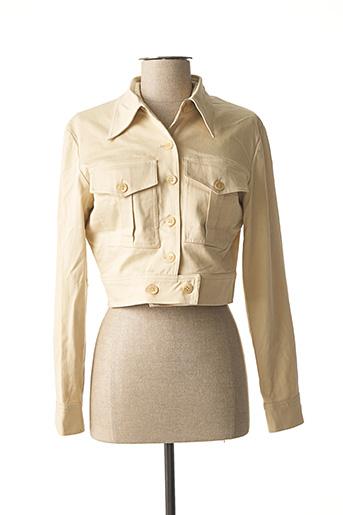 Veste casual beige CLAUDE ZANA pour femme