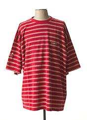 T-shirt manches courtes rouge SUN VALLEY pour homme seconde vue