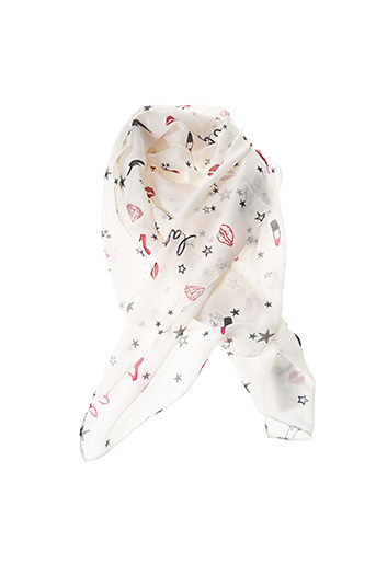 Foulard blanc BREAL pour femme