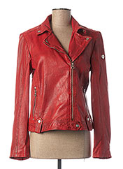 Veste en cuir orange GIPSY BY MAURITIUS pour femme seconde vue