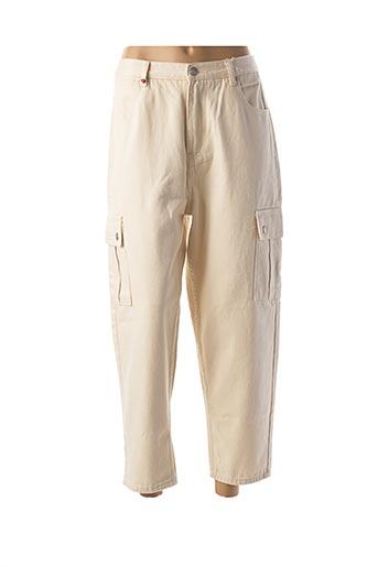 Pantalon casual beige BALLOON pour femme