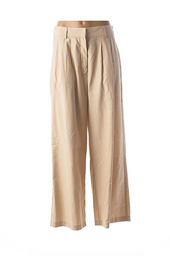 Pantalon casual beige SCHOOL RAG pour femme