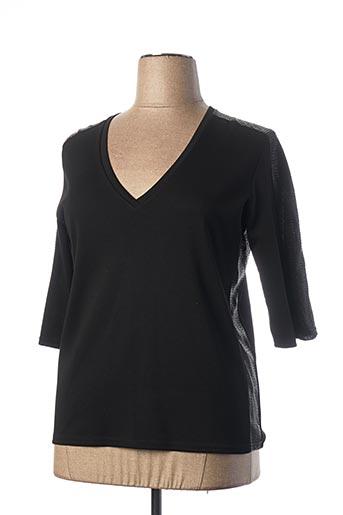 T-shirt manches longues noir BEAURIVAGE pour femme