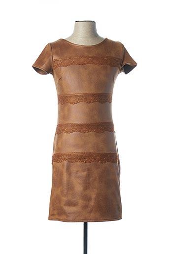 Robe courte marron FILLE A SUIVRE pour femme