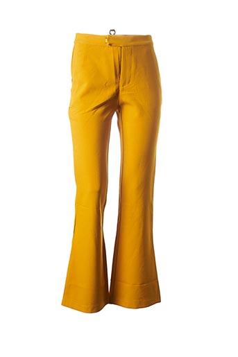 Pantalon casual jaune EIGHT PARIS pour femme