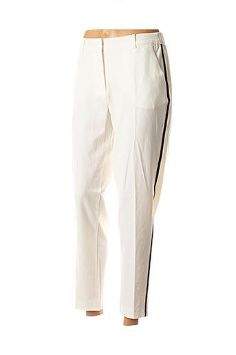Pantalon 7/8 blanc B.YOUNG pour femme