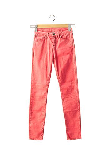 Jeans coupe slim rose ARMANI pour femme