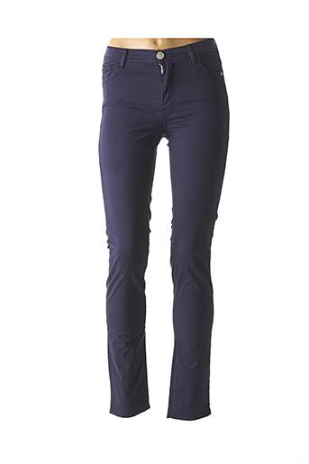 Pantalon casual bleu TRUSSARDI JEANS pour femme