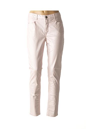 Pantalon casual rose MENSI COLLEZIONE pour femme