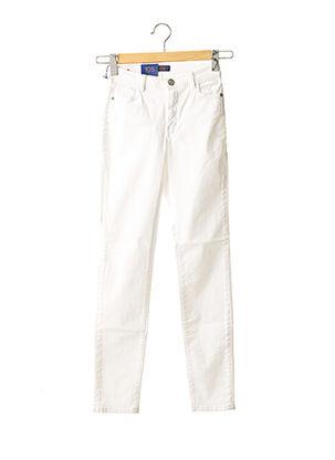 Jeans coupe slim blanc TRUSSARDI JEANS pour femme