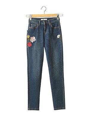 Jeans coupe slim bleu MENSI COLLEZIONE pour femme