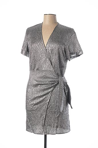 Robe courte gris JUBYLEE pour femme