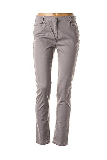 Jeans coupe slim gris ESPRIT DE LA MER pour femme