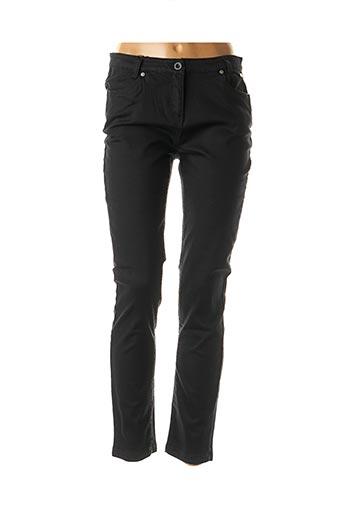 Jeans coupe slim noir ESPRIT DE LA MER pour femme
