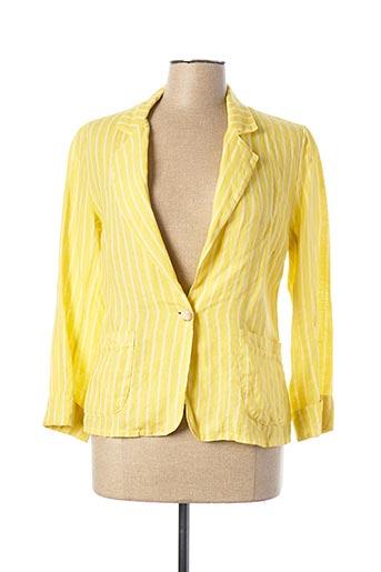 Veste casual jaune LAUREN VIDAL pour femme