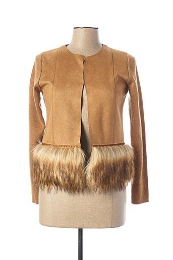 Veste casual marron TRIPODE pour femme