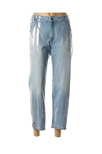 Jeans coupe droite bleu CHALOU pour femme