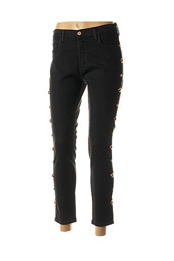 Pantalon 7/8 noir CRISTINA BARROS pour femme
