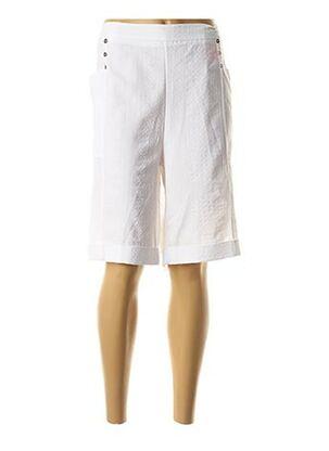 Bermuda blanc GRIFFON pour femme