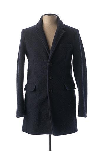 Manteau long bleu FRED MELLO pour homme