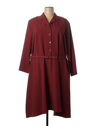 Robe mi-longue rouge LAURA DE L'ISLE pour femme
