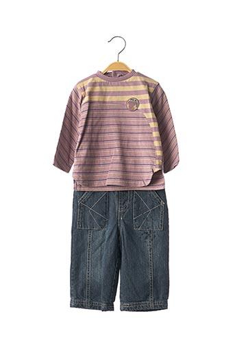 Top/pantalon violet MINI POUCE pour garçon