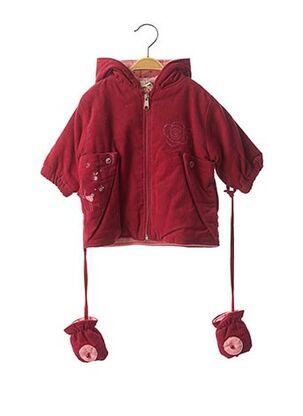 Manteau long rouge P'TITES CANAILLES pour fille