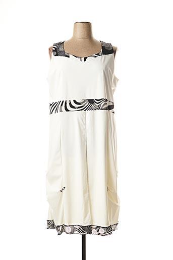 Robe mi-longue blanc JEAN DELFIN pour femme