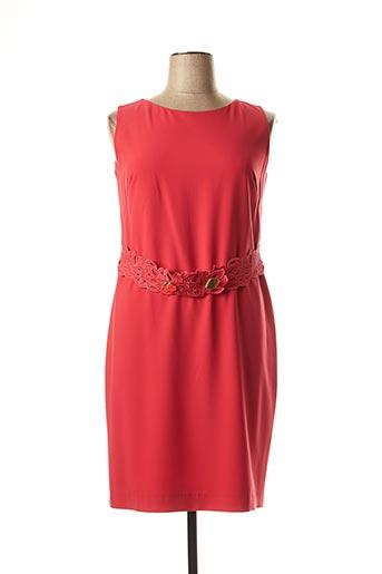 Robe mi-longue rouge CHEMA BLANCO pour femme