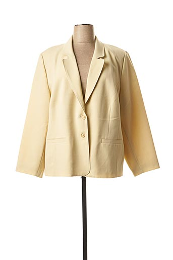Veste chic / Blazer beige FRANCOISE F pour femme