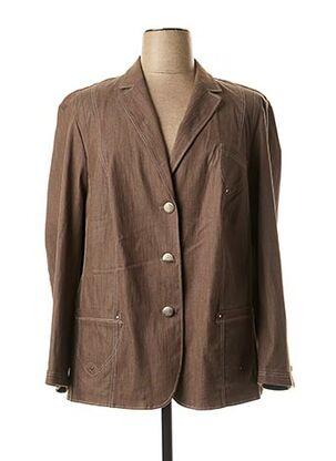 Veste chic / Blazer marron LEBEK pour femme