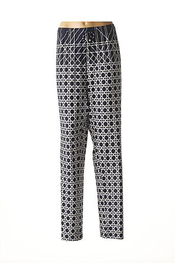 Pantalon casual bleu CHEMA BLANCO pour femme