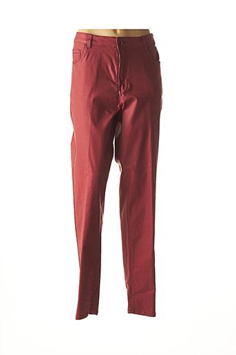 Pantalon casual rouge JEAN GABRIEL pour femme
